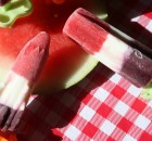 Red, White and Blue popsicles